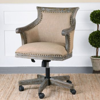 Chairs for Your Workspace Kimalina Linen Office Chair #DeskChairs #HomeOffice #HomeOfficeDeskChairs #OfficeChairs #Decor #FarmhouseDecor #WorkingMoms #WorkFromHome