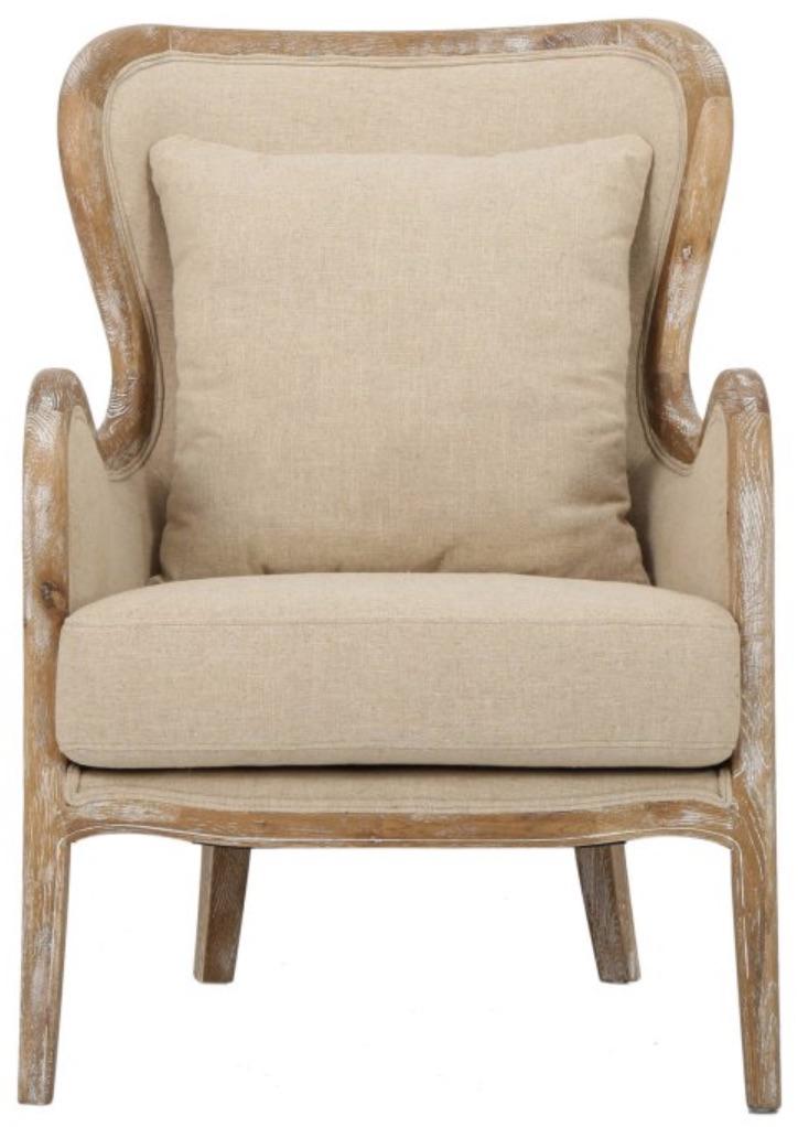 Chairs for Neutral Decors Lilya Wingback Chair #Chairs #AccentChairs #Decor #VintageDecor #FarmhouseDecor #NeutralDecor #Furniture