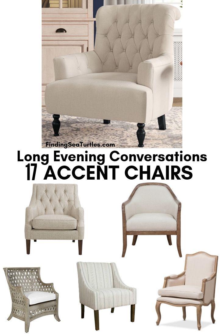 Long Evening Conversations 17 ACCENT CHAIRS #Chairs #AccentChairs #Decor #VintageDecor #FarmhouseDecor #NeutralDecor #Furniture