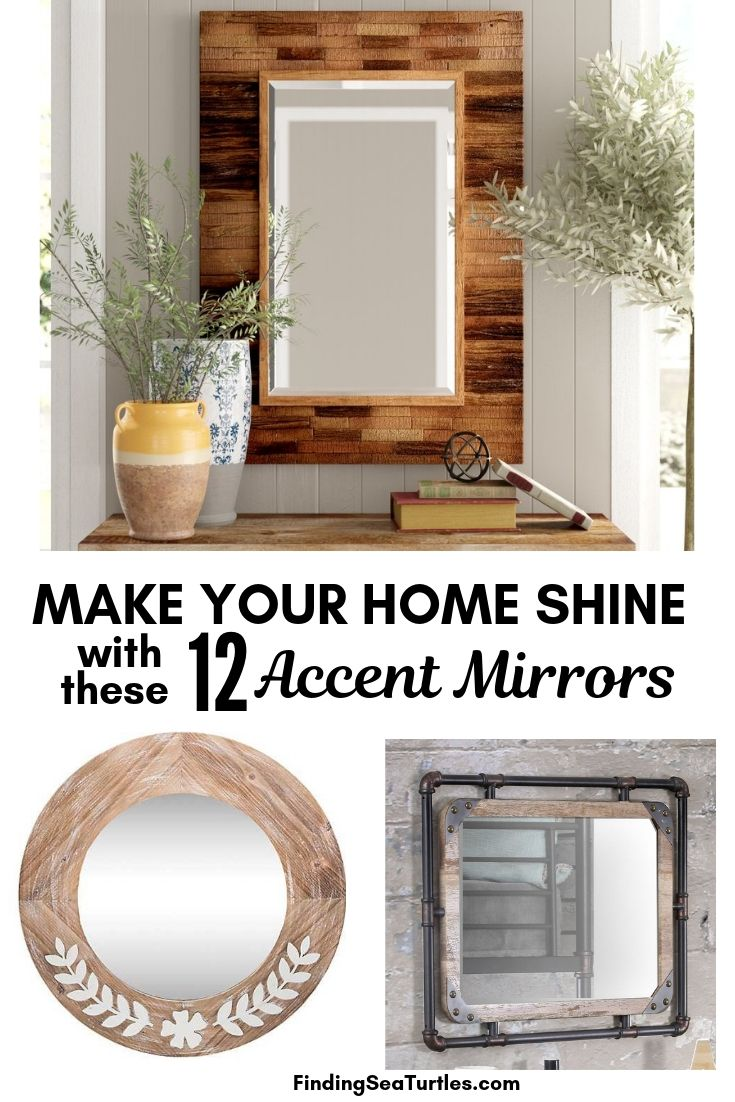 Make Your Home Shine With These 12 Accent Mirrors #DecorativeMirrors #Mirrors #AccentMirrors #Decor #VintageDecor #FarmhouseDecor #RusticDecor #IndustrialDecor