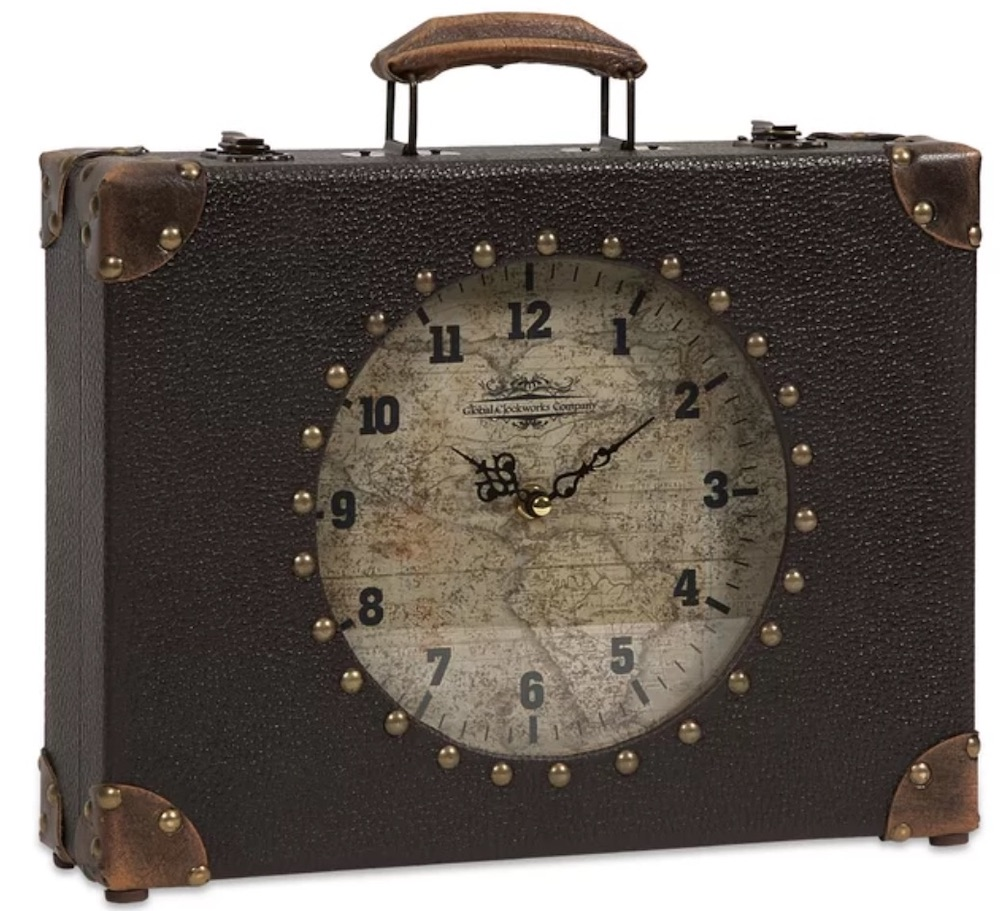 Clocks with Vintage Style Mantel Clock #Clocks #MantleClocks #Timepiece #TableTopDecor #Decor
