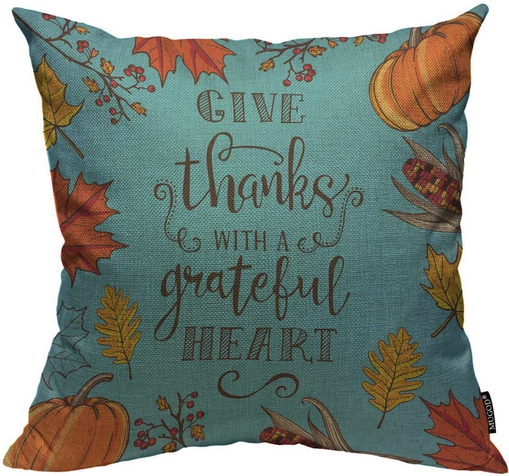 Decorations for a Festive Home Mugod Thanksgiving Decoration Throw Pillow Covers #Decor #ThanksgivingDecor #AffordableDecor #AffordableFallDecor #CheapThanksgivingDecor #QuickAndEasyDecor #BudgetFriendlyDecor