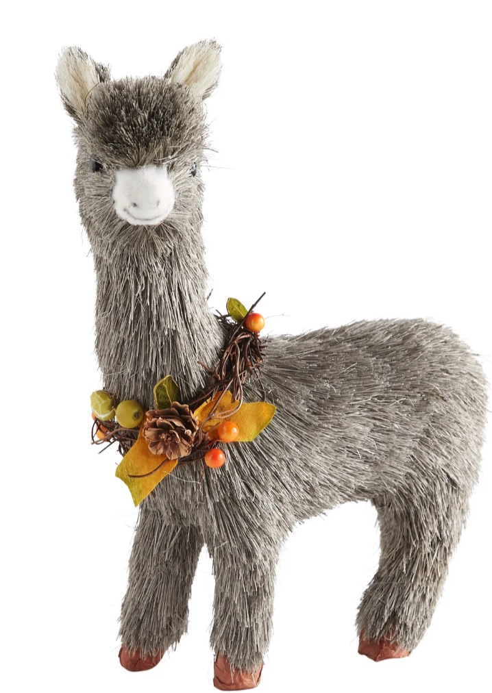 Decorations for a Festive Home Natural Sisal Gray Llama #Decor #ThanksgivingDecor #AffordableDecor #AffordableFallDecor #CheapThanksgivingDecor #QuickAndEasyDecor #BudgetFriendlyDecor