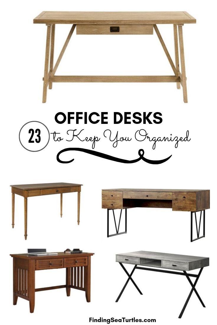 OFFICE DESKS 23 to Keep You Organized #Desks #HomeOffice #HomeOfficeDesks #Farmhouse #Decor #VintageDecor #FarmhouseDecor #IndustrialDecor #WorkingMoms #WorkFromHome