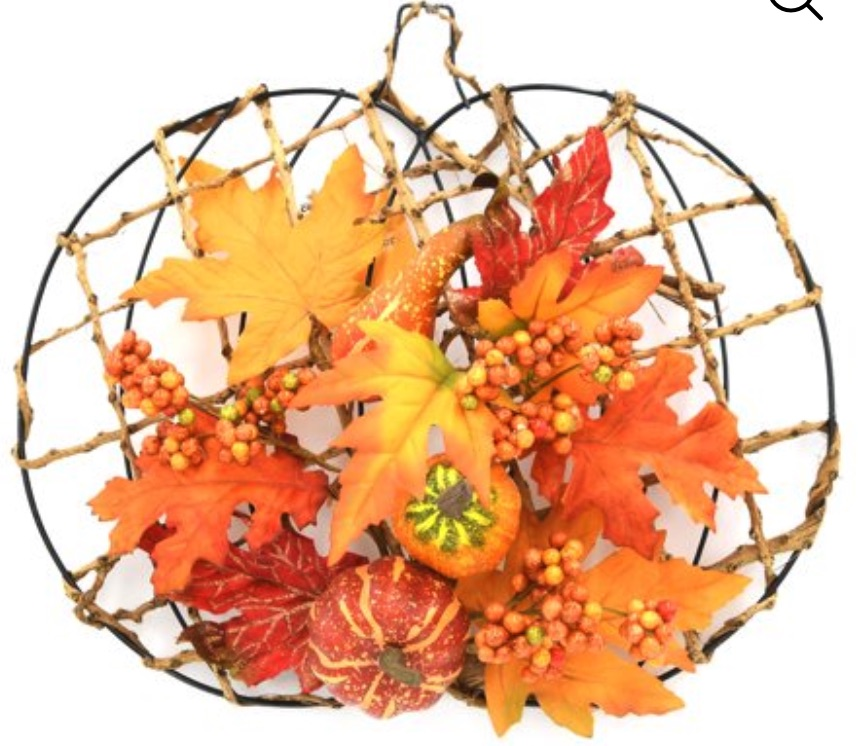 Decorations for a Festive Home Orange Pumpkin Floral Hanging Leaves Decoration #Decor #ThanksgivingDecor #AffordableDecor #AffordableFallDecor #CheapThanksgivingDecor #QuickAndEasyDecor #BudgetFriendlyDecor