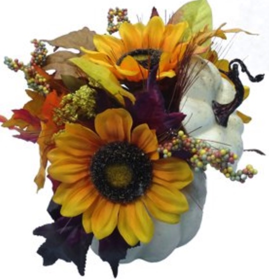 Decorations for a Festive Home Pumpkin Sunflower Thanksgiving Tabletop #Decor #ThanksgivingDecor #AffordableDecor #AffordableFallDecor #CheapThanksgivingDecor #QuickAndEasyDecor #BudgetFriendlyDecor
