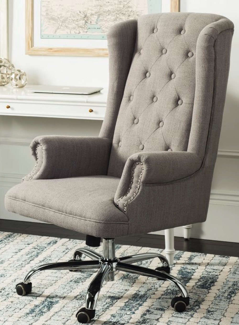 Chairs for Your Workspace Ranae Office Chair #DeskChairs #HomeOffice #HomeOfficeDeskChairs #OfficeChairs #Decor #FarmhouseDecor #WorkingMoms #WorkFromHome