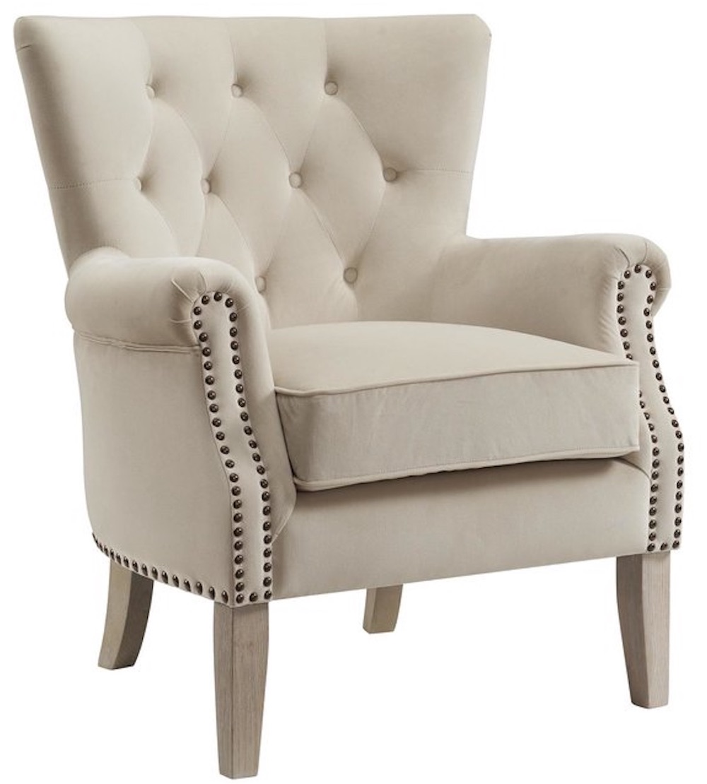 Chairs for Neutral Decors Roseanna Accent Armchair #Chairs #AccentChairs #Decor #VintageDecor #FarmhouseDecor #NeutralDecor #Furniture