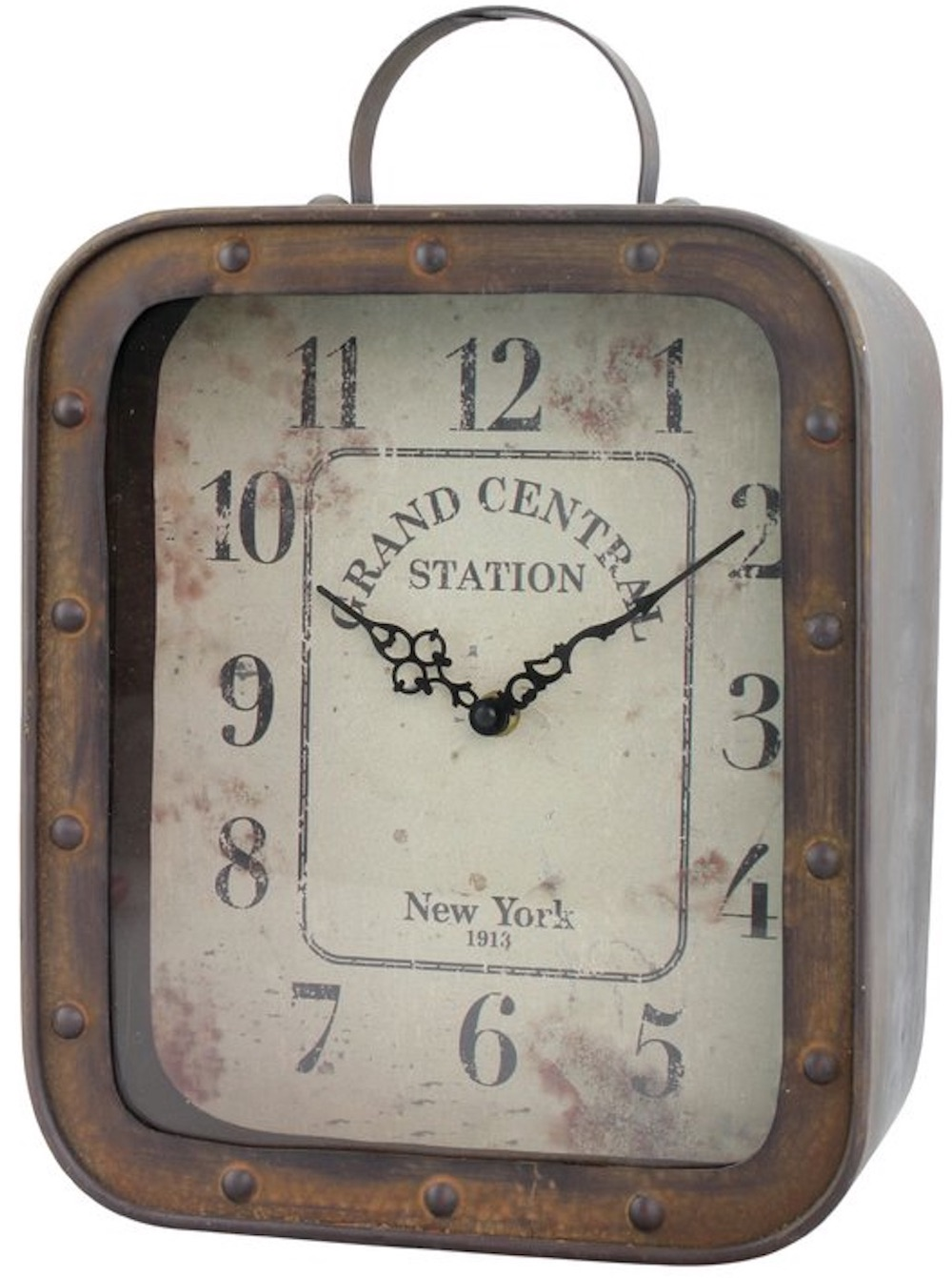Clocks with Vintage Style Rustic Analog Table Clock #Clocks #MantleClocks #Timepiece #TableTopDecor #Decor