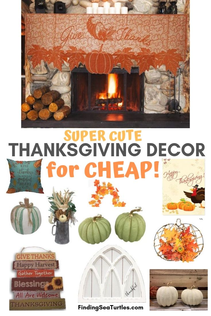 SUPER CUTE Thanksgiving Decor for Cheap #Decor #ThanksgivingDecor #AffordableDecor #AffordableFallDecor #CheapThanksgivingDecor #QuickAndEasyDecor #BudgetFriendlyDecor