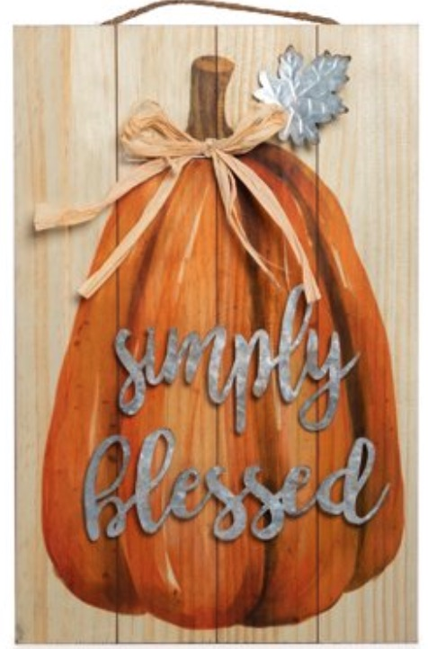 Thanksgiving Decorations for a Festive Home Simply Blessed Wood Harvest Sign #Decor #ThanksgivingDecor #AffordableDecor #AffordableFallDecor #CheapThanksgivingDecor #QuickAndEasyDecor #BudgetFriendlyDecor