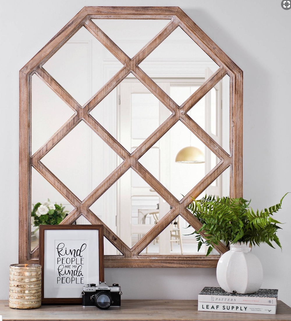 Mirrors with Rustic, Farmhouse Style Square Arched Mirror #DecorativeMirrors #Mirrors #AccentMirrors #Decor #VintageDecor #FarmhouseDecor #RusticDecor