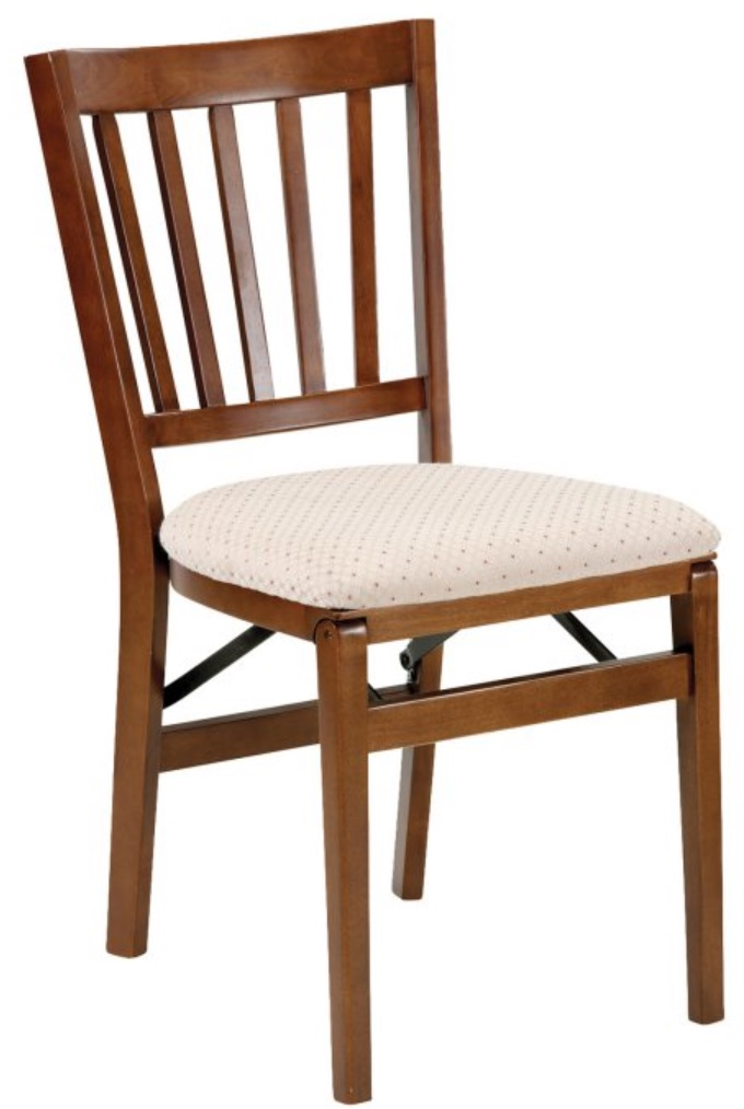 8 Folding Chairs for Holiday Dinners Stakmore Schoolhouse Upholstered Folding Chair Set Of 2 #FoldingChairs #DinnerTime #FamilyDinners #HolidayMeals #Entertaining #Celebrations