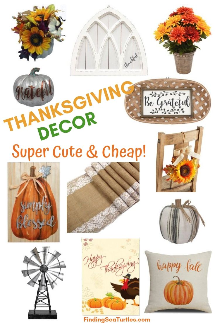 THANKSGIVING DECOR Super Cute and Cheap! #Decor #ThanksgivingDecor #AffordableDecor #AffordableFallDecor #CheapThanksgivingDecor #QuickAndEasyDecor #BudgetFriendlyDecor