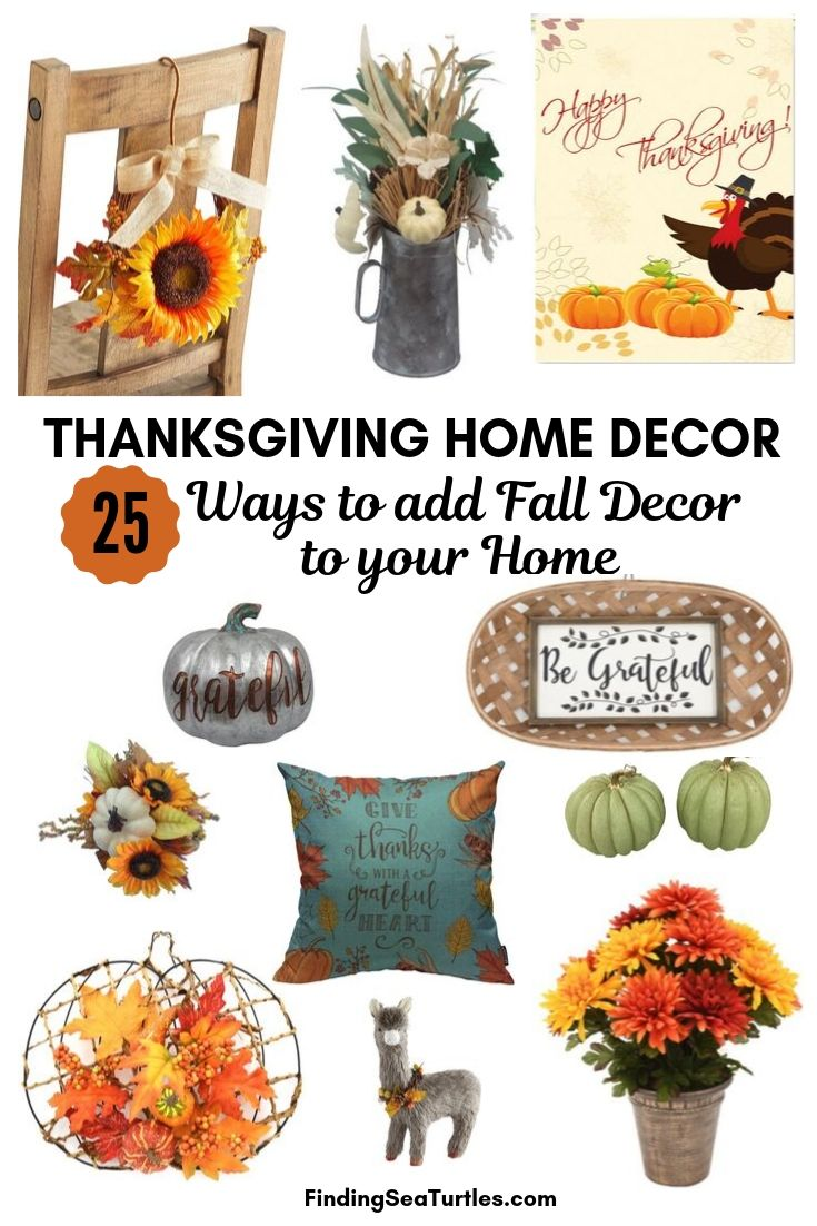 THANKSGIVING HOME DECOR 25 Ways to add Fall Decor to your Home #Decor #ThanksgivingDecor #AffordableDecor #AffordableFallDecor #CheapThanksgivingDecor #QuickAndEasyDecor #BudgetFriendlyDecor