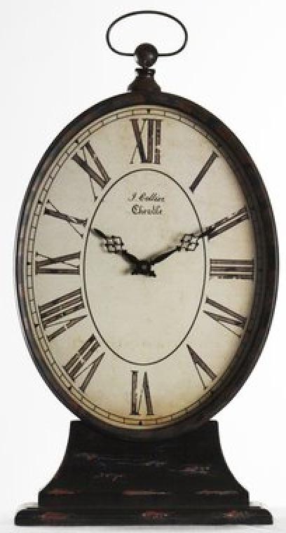 Clocks with Vintage Style Tall Paris Table Clock #Clocks #MantleClocks #Timepiece #TableTopDecor #Decor
