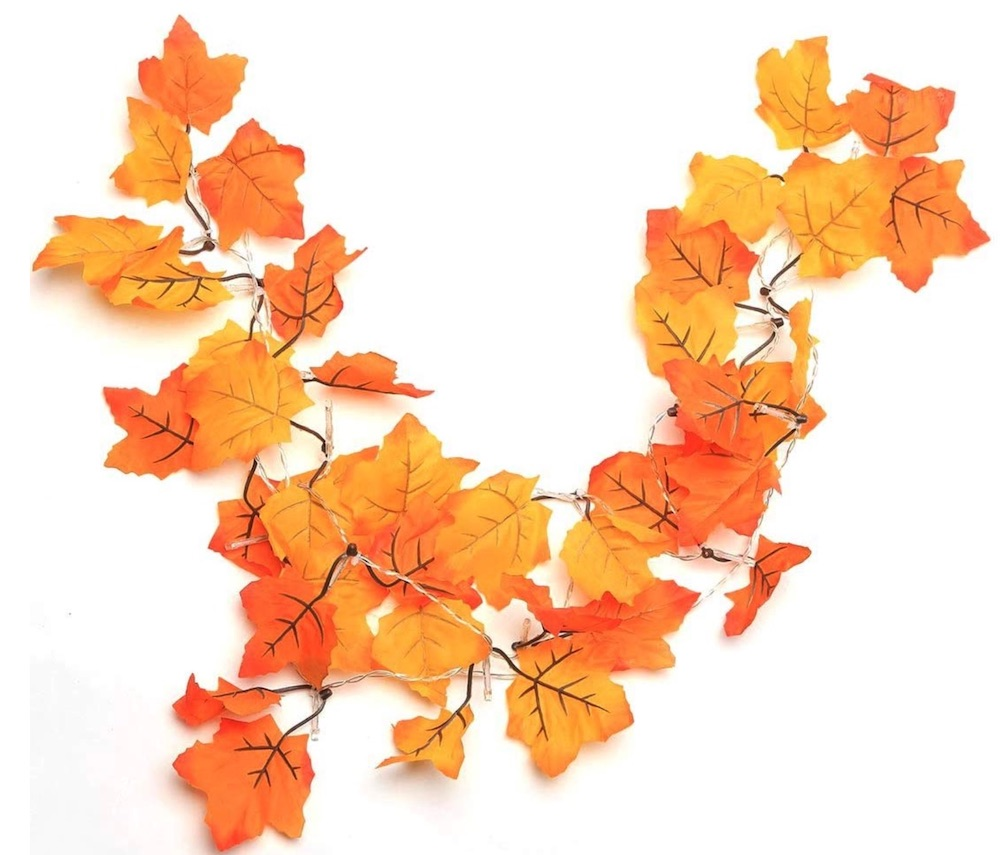 Decorations for a Festive Home Thanksgiving Decorations Lighted Fall Garland #Decor #ThanksgivingDecor #AffordableDecor #AffordableFallDecor #CheapThanksgivingDecor #QuickAndEasyDecor #BudgetFriendlyDecor