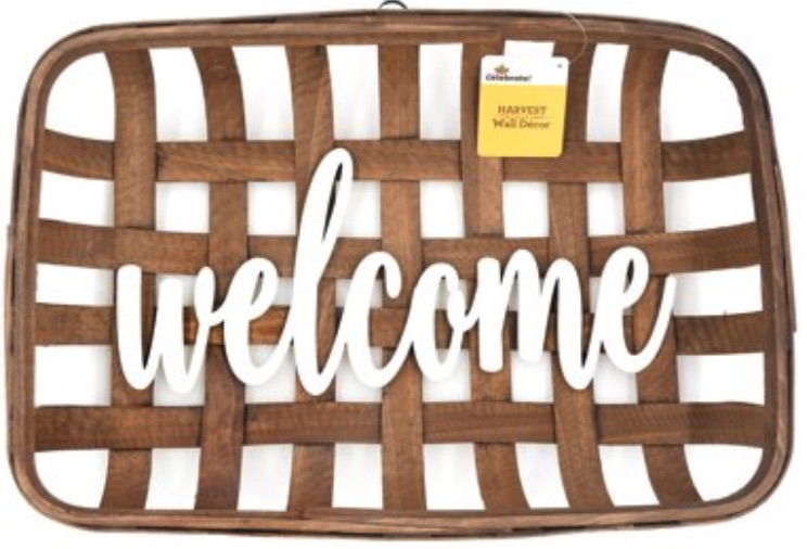 Thanksgiving Decorations for a Festive Home Welcome Woven Basket Thanksgiving Decorative Sign #Decor #ThanksgivingDecor #AffordableDecor #AffordableFallDecor #CheapThanksgivingDecor #QuickAndEasyDecor #BudgetFriendlyDecor