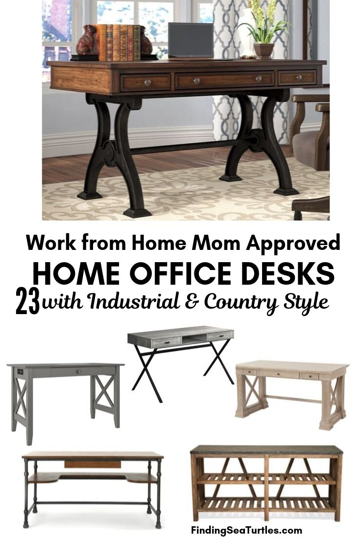 Work from Home Mom Approved HOME OFFICE DESKS 23 Industrial Country Style #Desks #HomeOffice #HomeOfficeDesks #Farmhouse #Decor #VintageDecor #FarmhouseDecor #IndustrialDecor #WorkingMoms #WorkFromHome