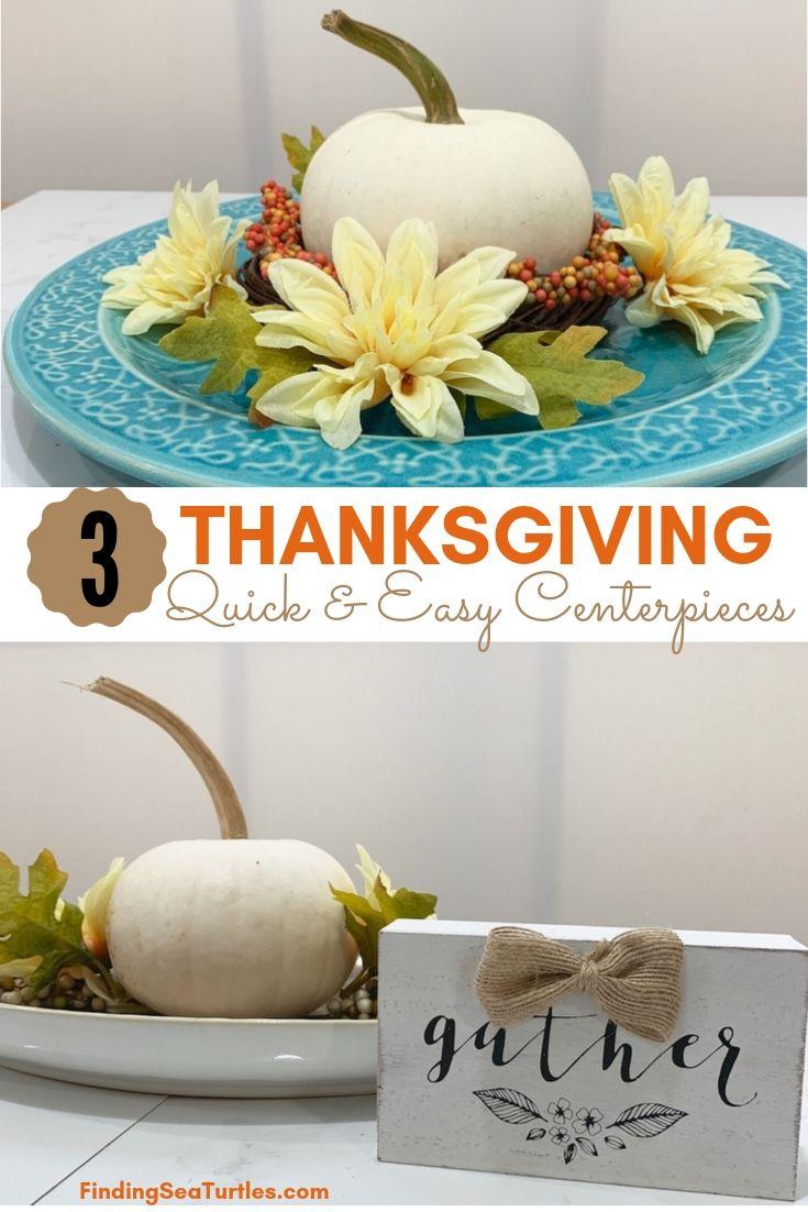 3 Thanksgiving Quick Easy Centerpieces #DIY #DIYDecor #ThanksgivingCenterpiece #FallCenterpiece #FallDecor #Thanksgiving #ThanksgivingTable #Centerpiece #AutumnCenterpiece
