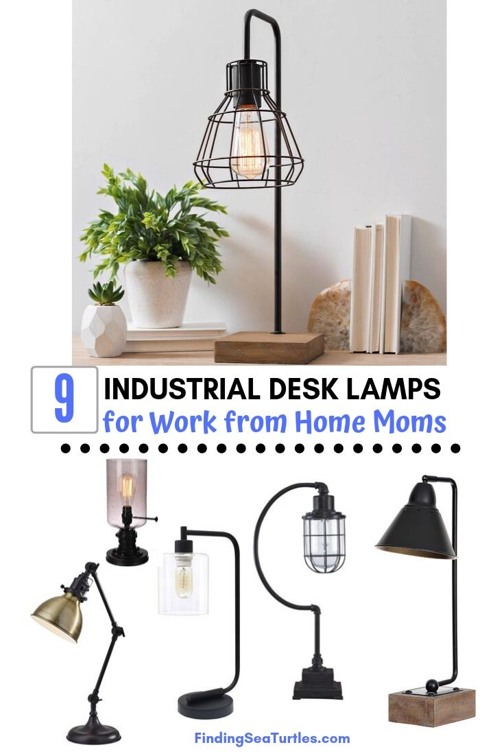 9 INDUSTRIAL DESK LAMPS for Work from Home Moms #DeskLamps #OfficeLamps #HomeOffice #HomeOfficeDeskLamp #Decor #FarmhouseDecor #IndustrialDecor #WorkingMoms #WorkFromHome
