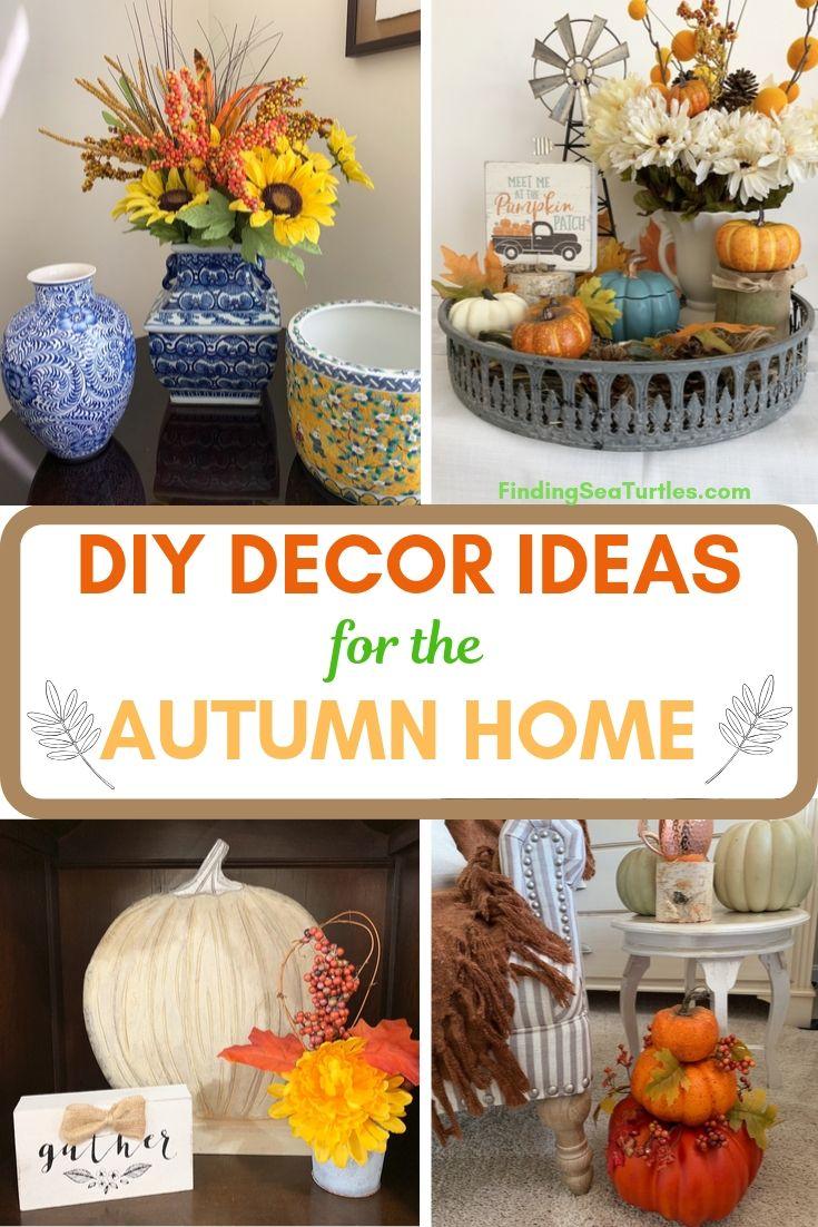 DIY DECOR IDEAS for the Autumn Home #DIY #DIYDecor #AutumnDecor #FallDecor #AutumnDecorDIY