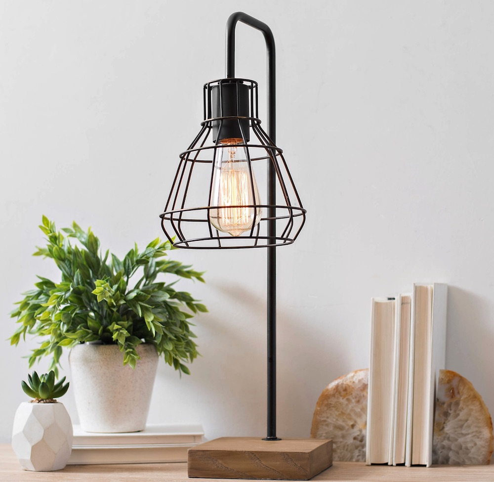 Desk Lamps for your Workspace David Metal Shade Edison Task Lamp #DeskLamps #OfficeLamps #HomeOffice #HomeOfficeDeskLamp #Decor #FarmhouseDecor #IndustrialDecor #WorkingMoms #WorkFromHome