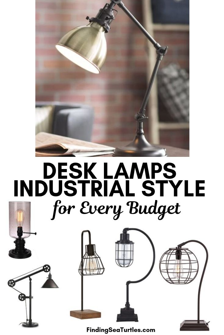 Desk Lamps Industrial Style for Every Budget #DeskLamps #OfficeLamps #HomeOffice #HomeOfficeDeskLamp #Decor #FarmhouseDecor #IndustrialDecor #WorkingMoms #WorkFromHome