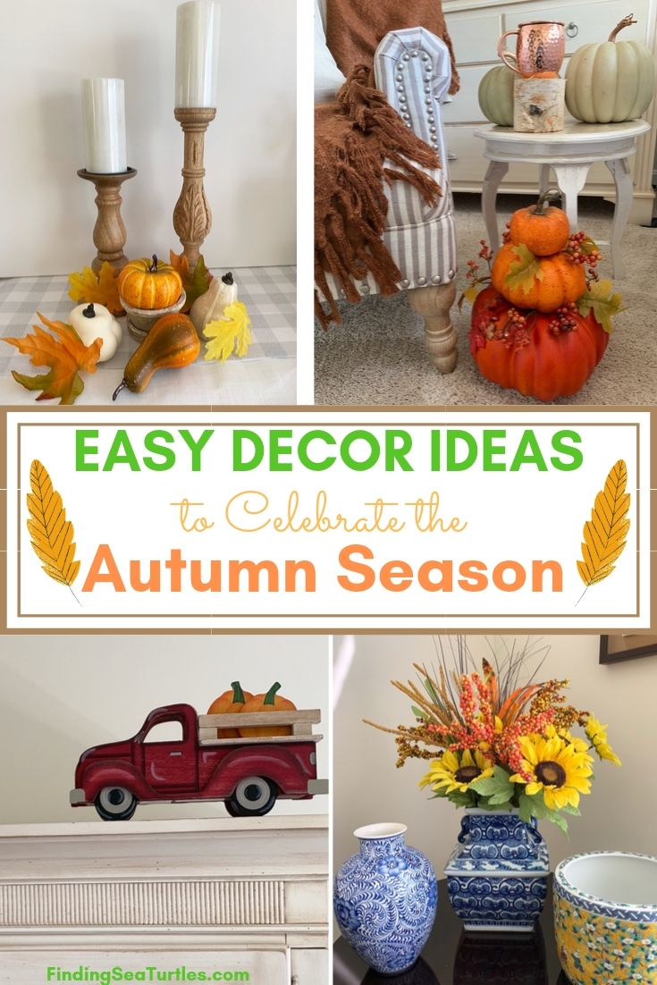 EASY DECOR IDEAS to Celebrate the Autumn Season #DIY #DIYDecor #AutumnDecor #FallDecor #AutumnDecorDIY