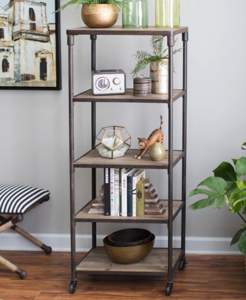 Industrial Bookcases Franklin Industrial Bookcase #Decor #IndustrialDecor #Bookcases #IndustrialBookcases #HomeOffice #HomeStorage #Organization