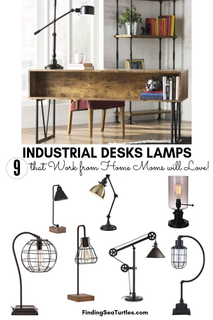 INDUSTRIAL DESKS LAMPS 9 that Work from Home Moms will Love #DeskLamps #OfficeLamps #HomeOffice #HomeOfficeDeskLamp #Decor #FarmhouseDecor #IndustrialDecor #WorkingMoms #WorkFromHome