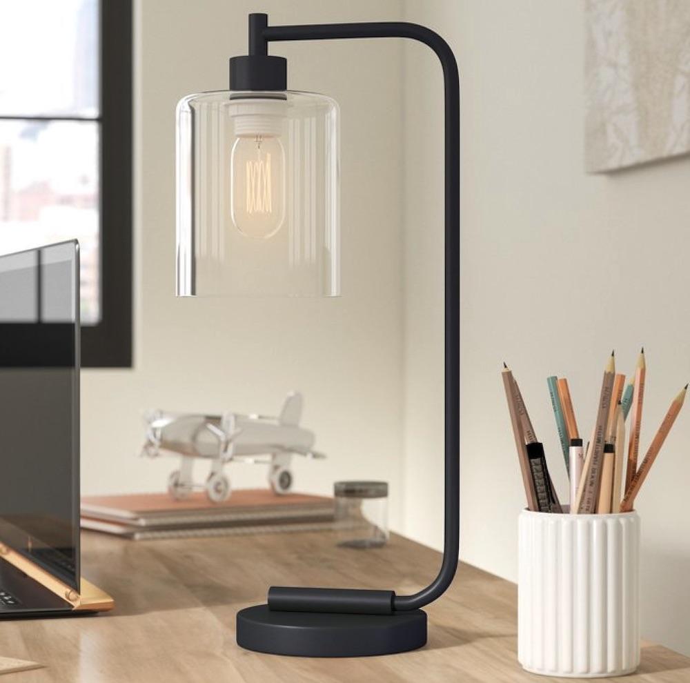 Lighting for your Workspace Keystone Lantern Desk Lamp #DeskLamps #OfficeLamps #HomeOffice #HomeOfficeDeskLamp #Decor #FarmhouseDecor #IndustrialDecor #WorkingMoms #WorkFromHome