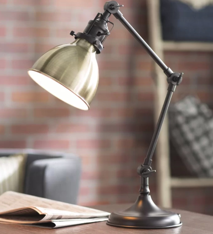 Lighting for your Workspace Orrstown Desk Lamp #DeskLamps #OfficeLamps #HomeOffice #HomeOfficeDeskLamp #Decor #FarmhouseDecor #IndustrialDecor #WorkingMoms #WorkFromHome