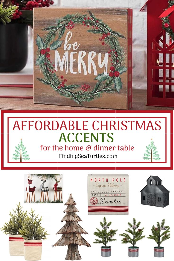 AFFORDABLE CHRISTMAS Accents for the home dinner table #Decor #ChristmasDecor #AffordableChristmasDecor #Christmas #ChristmasAccents #AffordableDecor