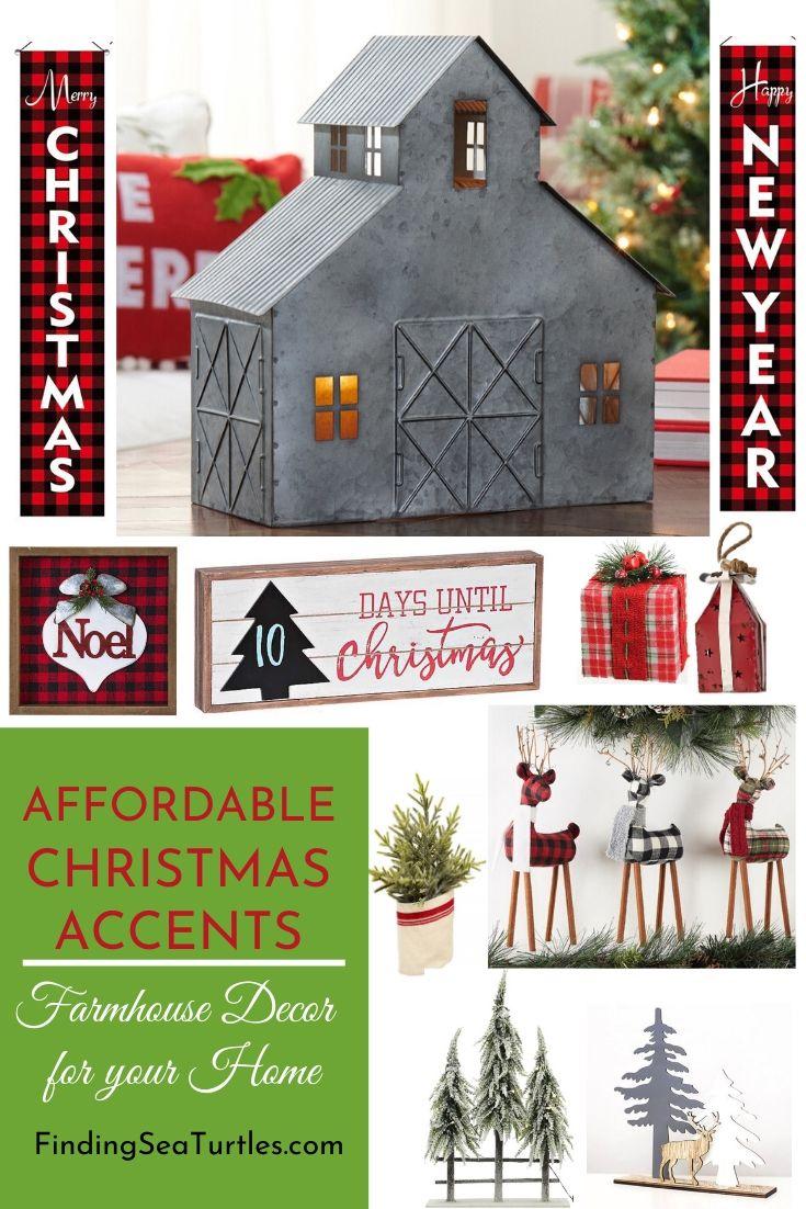 AFFORDABLE Christmas Accents Farmhouse Decor for your Home #Decor #ChristmasDecor #AffordableChristmasDecor #Christmas #ChristmasAccents #AffordableDecor