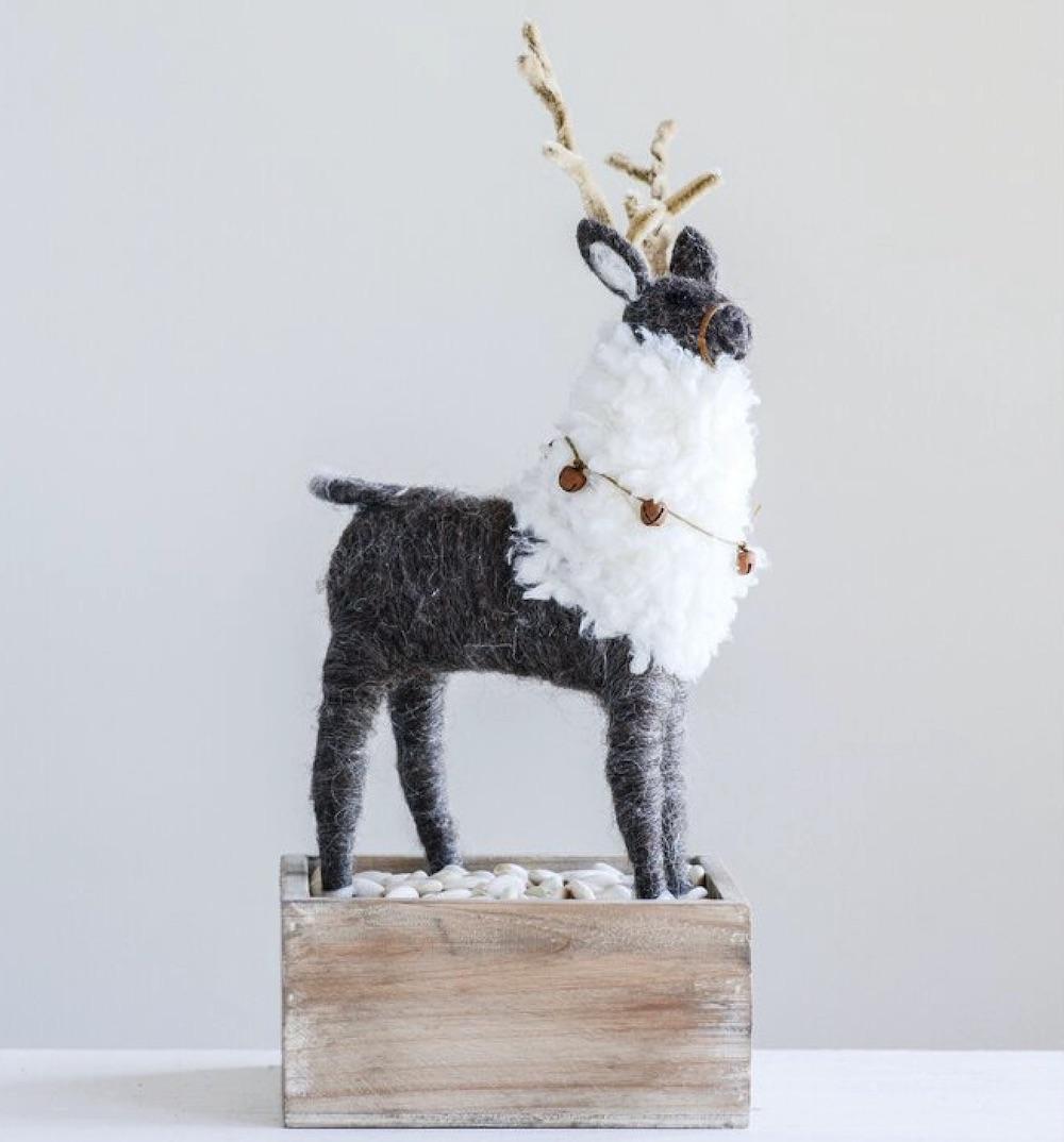 For the Home Beckman Wool Felt Reindeer #Decor #Christmas #ChristmasDecor #HomeDecor #ChristmasHomeDecor #HolidayDecor