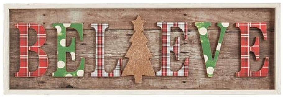 Celebrate the Season Believe Christmas Wall Decor #Decor #Christmas #Farmhouse #ChristmasDecor #FarmhouseDecor #FarmhouseChristmasDecor #HolidayDecor