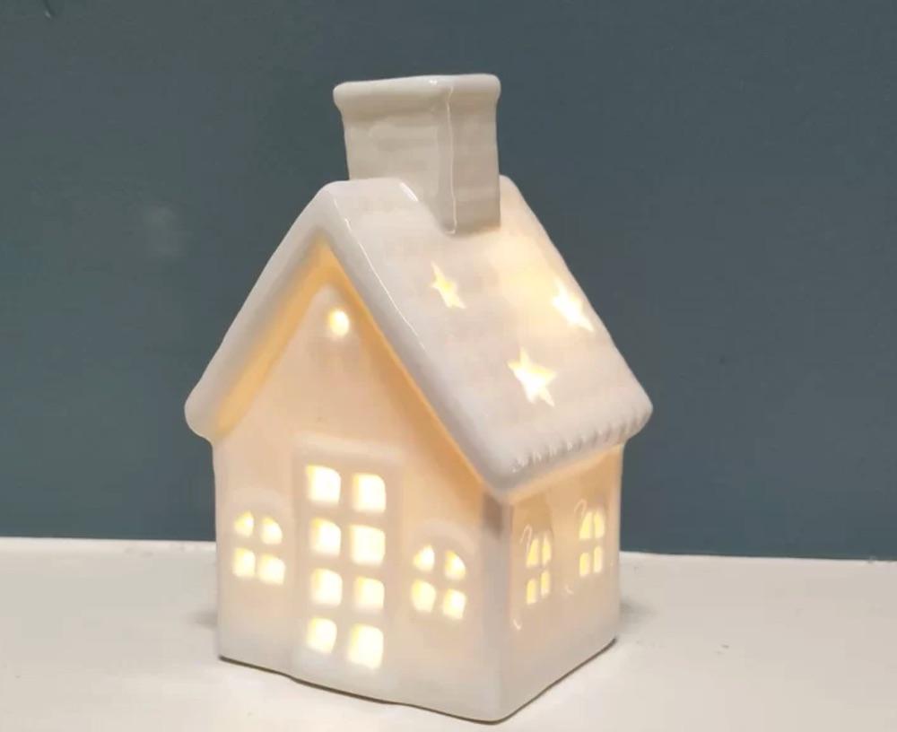 Holiday Decor Christmas Ceramic House #Decor #ChristmasDecor #AffordableChristmasDecor #Christmas #ChristmasAccents #AffordableDecor