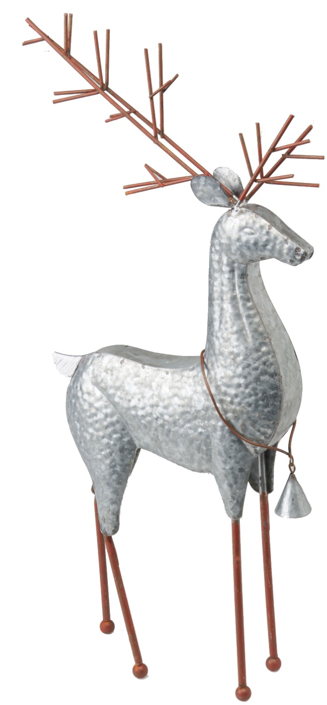 Holiday Decor Christmas Silver Deer with Raised Head #Decor #ChristmasDecor #AffordableChristmasDecor #Christmas #ChristmasAccents #AffordableDecor