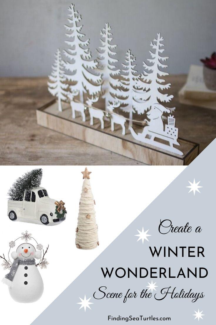 Create a WINTER WONDERLAND Scene for the Holidays #Decor #Christmas #ChristmasDecor #HomeDecor #ChristmasHomeDecor #HolidayDecor