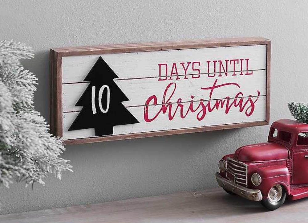 Holiday Decor Days #Decor #ChristmasDecor #AffordableChristmasDecor #Christmas #ChristmasAccents #AffordableDecor Til Christmas Wall Plaque #Decor #ChristmasDecor #AffordableChristmasDecor #Christmas #ChristmasAccents #AffordableDecor