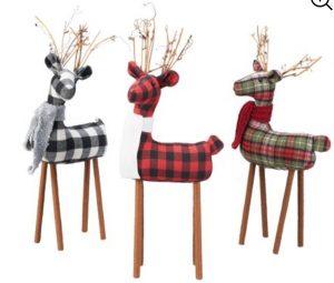 Rustic Decor Fabric Deer Table Top #Decor #ChristmasDecor #RusticChristmas #RusticChristmasDecor #Christmas ChristmasCabin #ChristmasLodge #ChristmasAccents #HolidayDecor