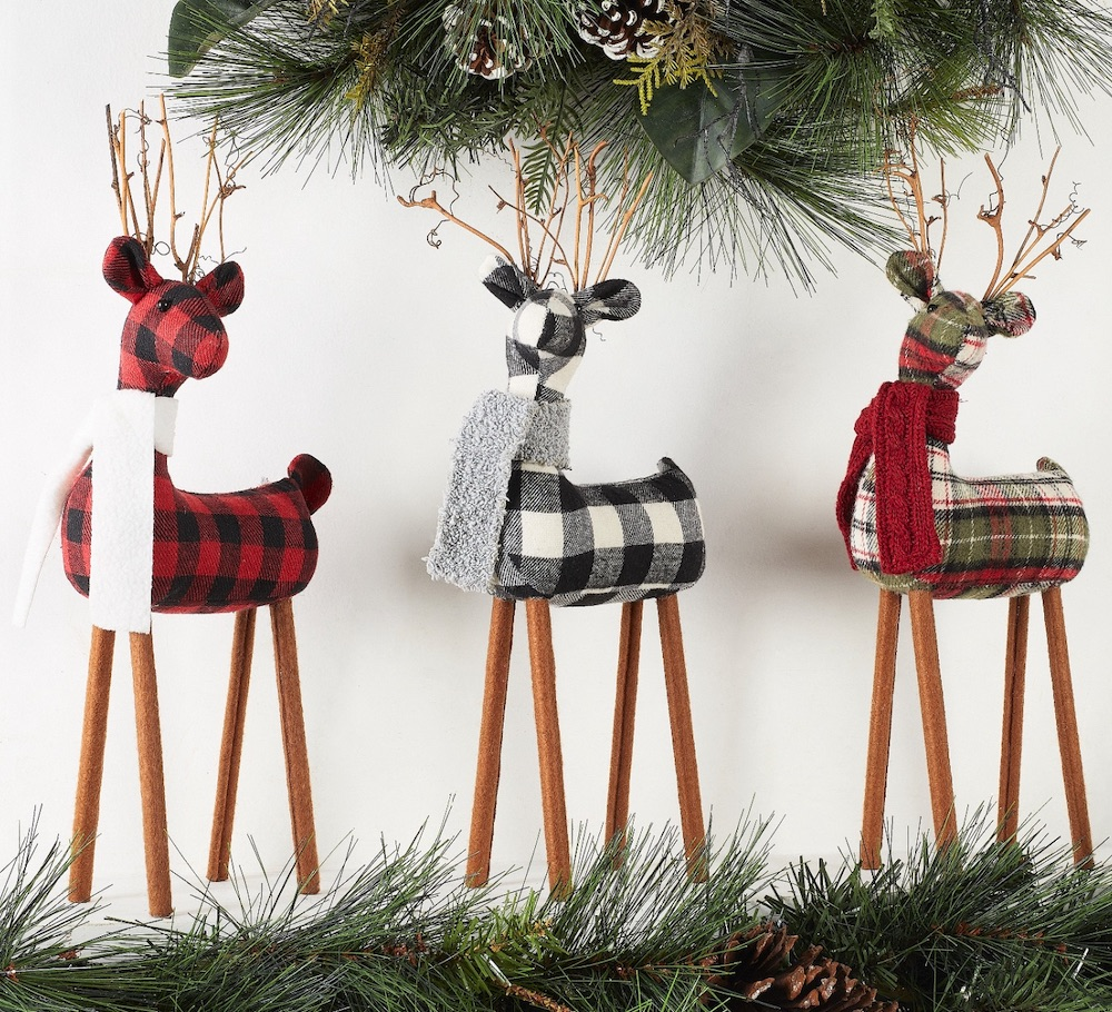 Affordable Christmas Accents Fabric Deer Table Top #Decor #ChristmasDecor #AffordableChristmasDecor #Christmas #ChristmasAccents #AffordableDecor