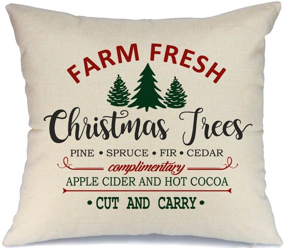 Holiday Decor Farmhouse Christmas Pillow Cover #Decor #ChristmasDecor #AffordableChristmasDecor #Christmas #ChristmasAccents #AffordableDecor