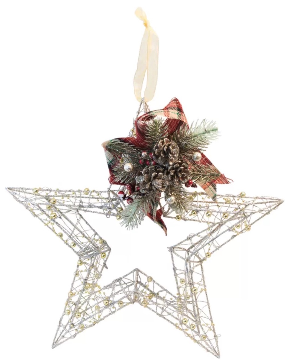 Affordable Christmas Accents Ferretti Wire Star Figurine #Decor #ChristmasDecor #AffordableChristmasDecor #Christmas #ChristmasAccents #AffordableDecor