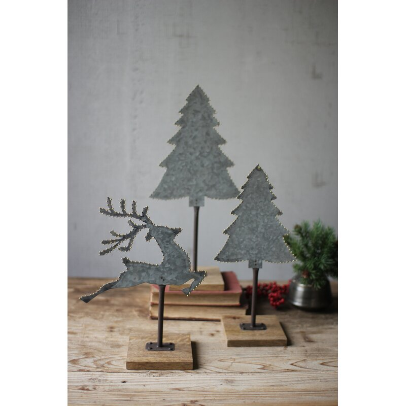 Farmhouse Christmas Decorations to Celebrate the Season Galvanized Trees Deer Brass Dot Detail Set #Decor #Christmas #Farmhouse #ChristmasDecor #FarmhouseDecor #FarmhouseChristmasDecor #HolidayDecor