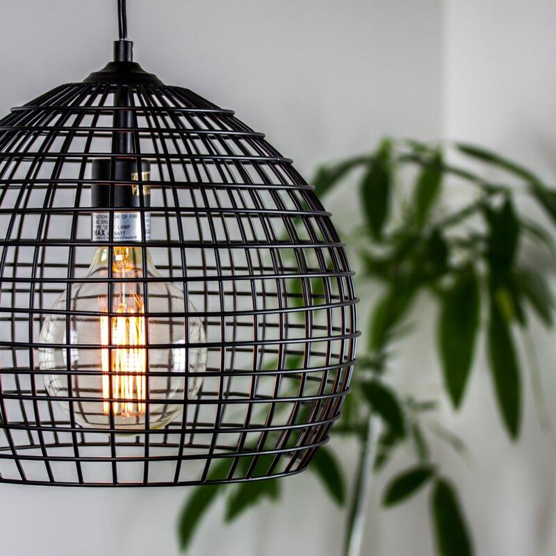 11 Best Factory Inspired Lighting Hambrick Industrial Style Caged Metal Globe Pendant #Decor #IndustrialDecor #IndustrialLighting #IndustrialPendants #WarehouseDecor #FactoryInspiredDecor