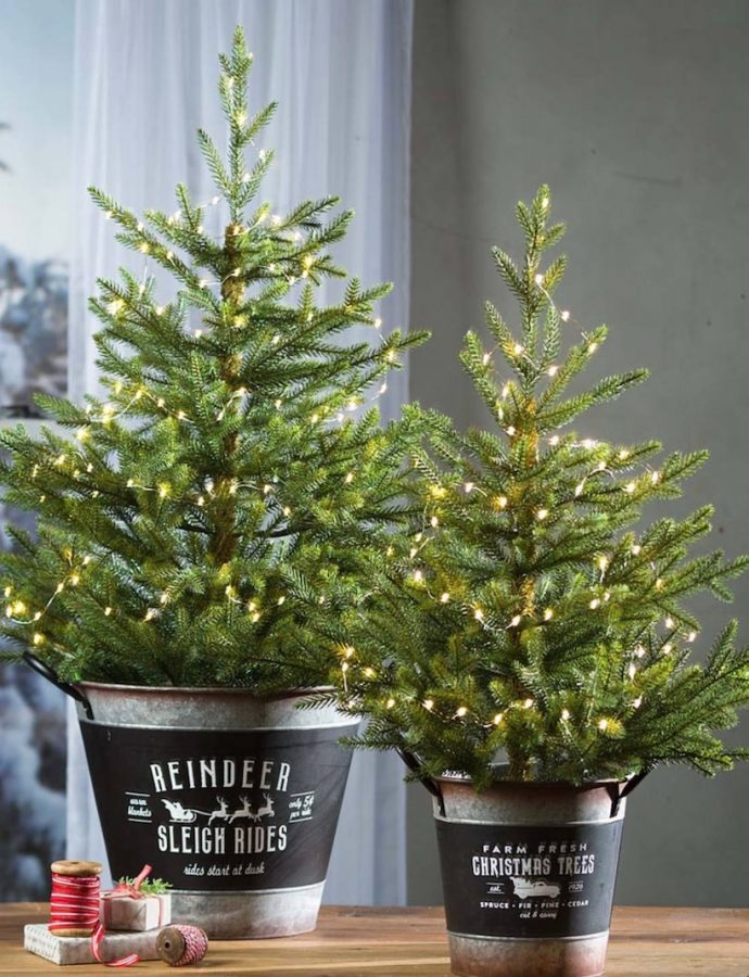 14 Festive Farmhouse Christmas Containers