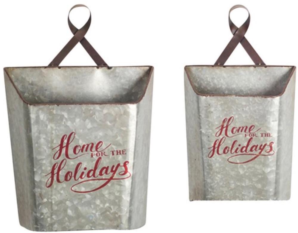 14 Festive Farmhouse Christmas Containers Holiday Wall Bucket #Decor #Organization #ChristmasDecor #FarmhouseDecor #FarmhouseBuckets #FarmhouseChristmas #Containers #ChristmasBuckets #ChristmasBins
