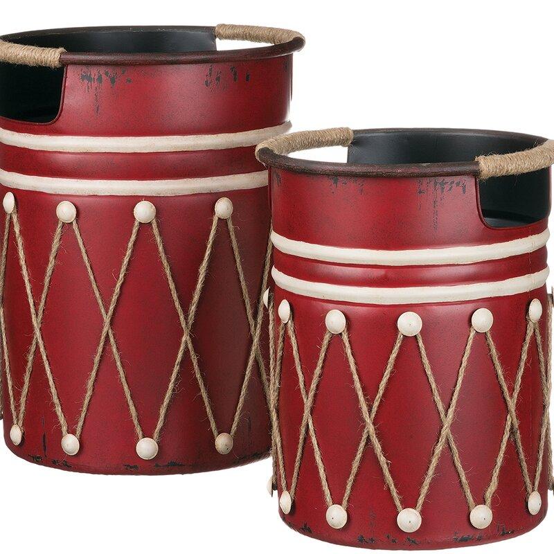 14 Festive Farmhouse Christmas Containers Metal Drum Decor Set #Decor #Organization #ChristmasDecor #FarmhouseDecor #FarmhouseBuckets #FarmhouseChristmas #Containers #ChristmasBuckets #ChristmasBins